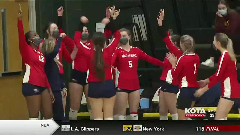 The Black Hills State Yellow Jackets lost to the Metro State Roadrunners in straight sets on...