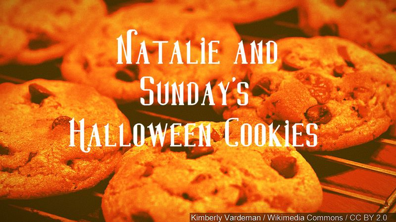 Bake for 10 to 12 minutes and you'll have the most delicious and spooky chocolate chip cookies...