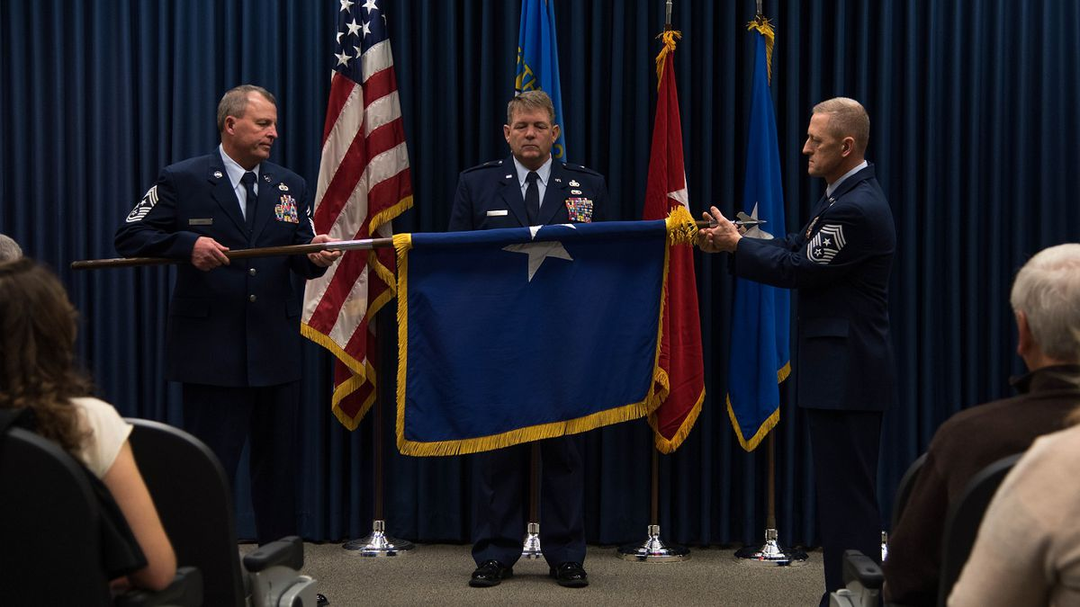 U.S. Air National Guard Brig. Gen. Edwin Vanderwolde, South Dakota National Guard Director,...