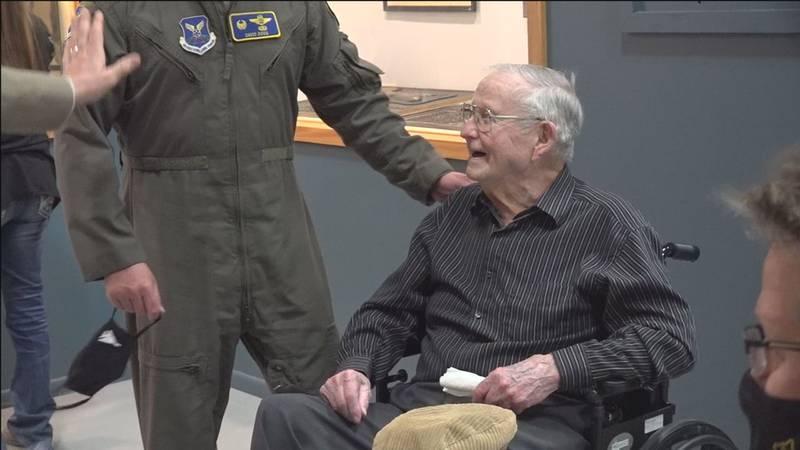 Technical Sergeant Morry Crow celebrates his 101st birthday.