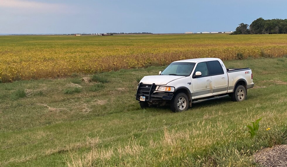 A pickup at the site of a fatal crash involving S.D. Atty. Gen. Jason Ravnsborg. A trooper said the pickup was involved in the crash.