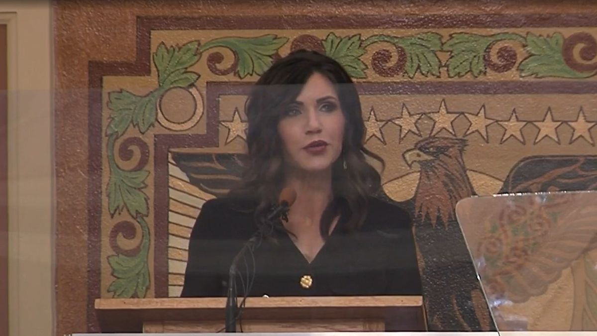 "South Dakota is ""the best place to live in America,"" Governor Kristi Noem told state lawmakers..."
