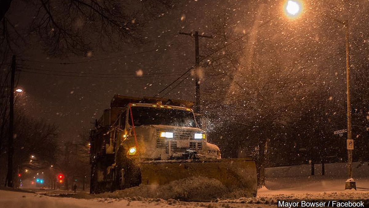 File image of a snow plow on January 22, 2016