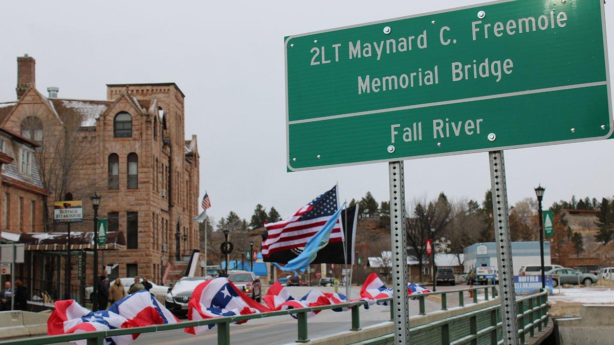 A bridge in Hot Springs was dedicated for 2nd Lt. Maynard C. Freemole, a World War II soldier...