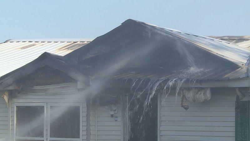 House fire in Box Elder