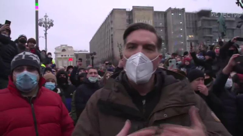Russian police arrested more than 3,000 people demanding the release of opposition leader...