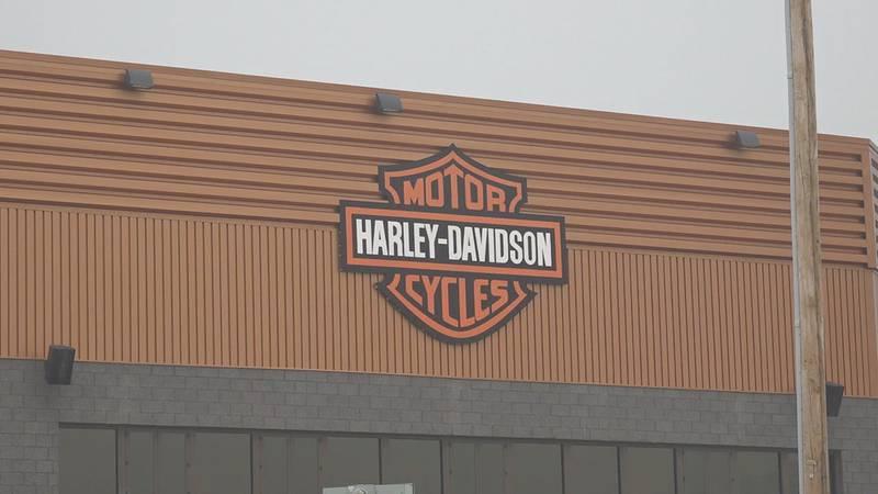 The parking lot of Black Hills Harley Davidson off Interstate 90 at Exit 55 hosts all sorts of...