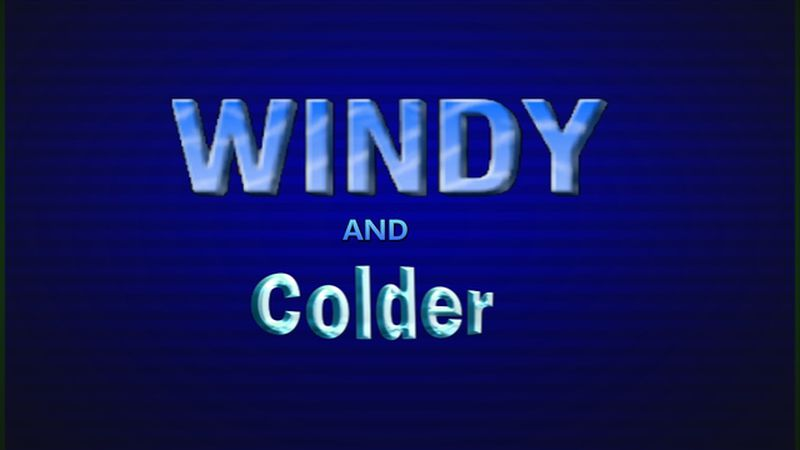 Windy and cooler