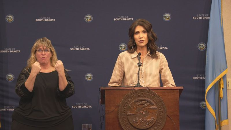 Noem sent a letter to the state's congressional delegation earlier this week asking for their...