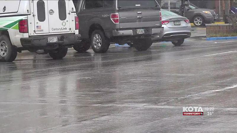 Precipitation can lead to slippery roads.