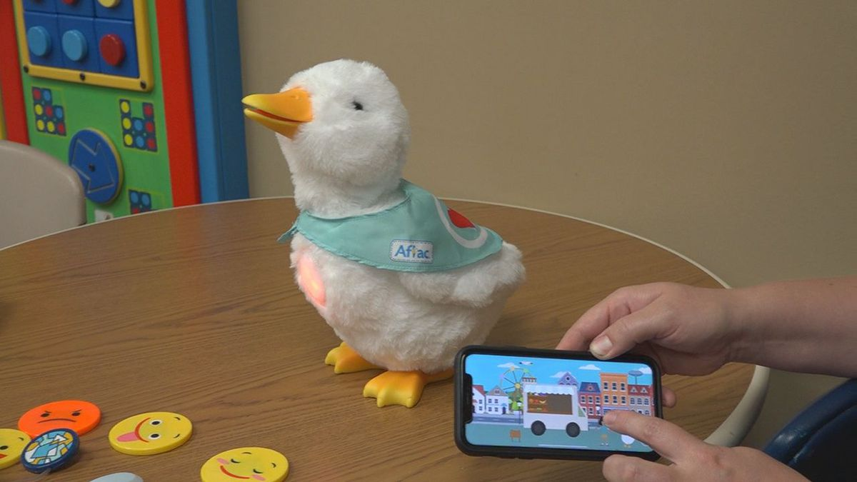 Thanks to a donation from Aflac, the hospital is providing young patients with a new fun tool.