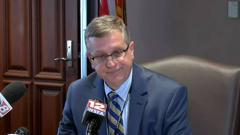 Alabama State Health Officer Dr. Scott Harris becomes emotion during a COVID-19 update, telling...