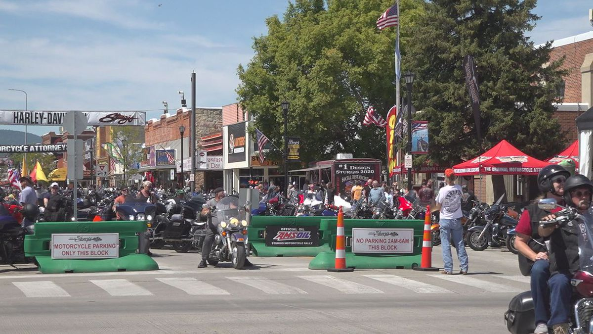 Main Street during the 80th Sturgis Motorcycle Rally.