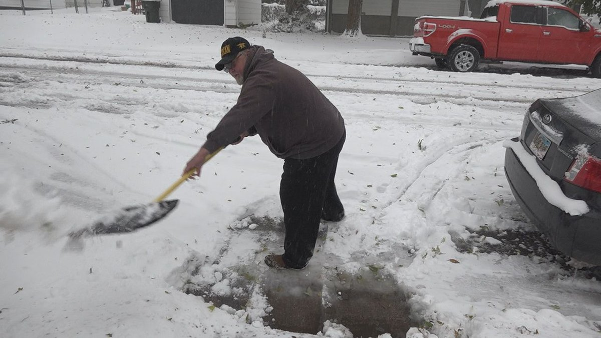Snowfall hit the Black Hills, and now crews and residents in Sturgis are cleaning up.  (KOTA)