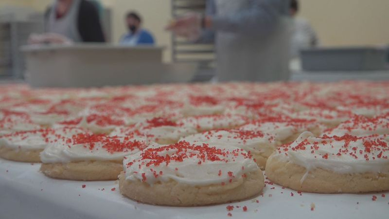 YFS staff started their labor of love on Monday with baking and are finished up frosting,...