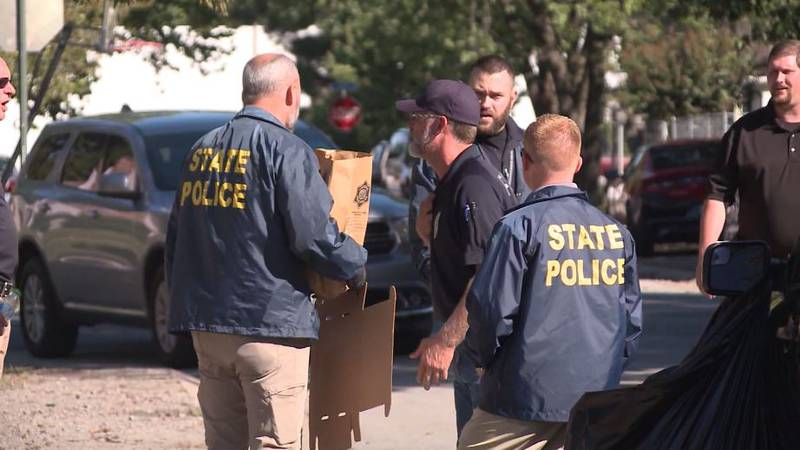 Authorities say two people in Arkansas died from stab wounds and a third person was shot and...