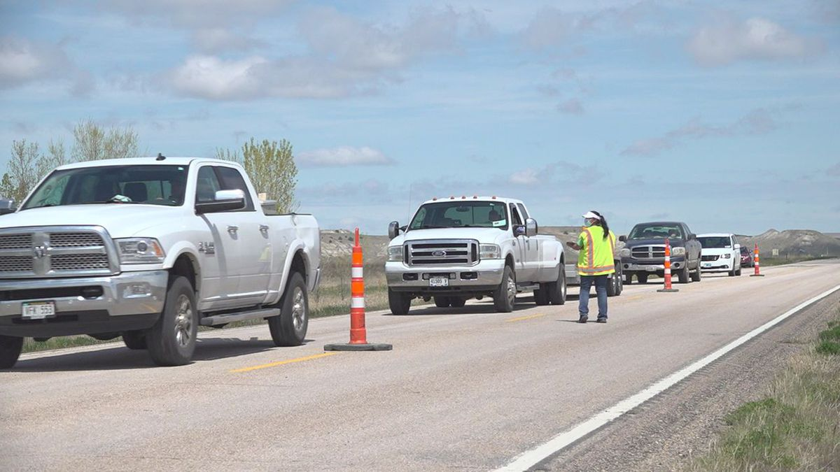 Oglala Lakota County deployed COVID-19 checkpoints to anyone entering the reservation on May 13, 2020.