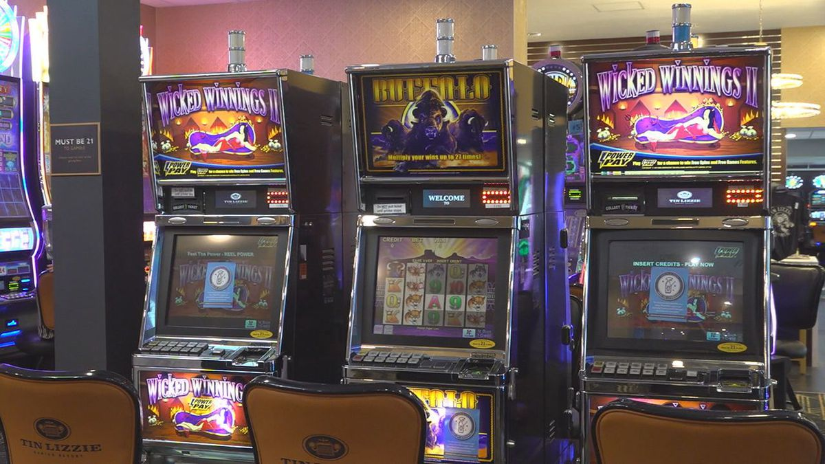 Machines at the Tin Lizzie Gaming Resort in Deadwood, S.D.