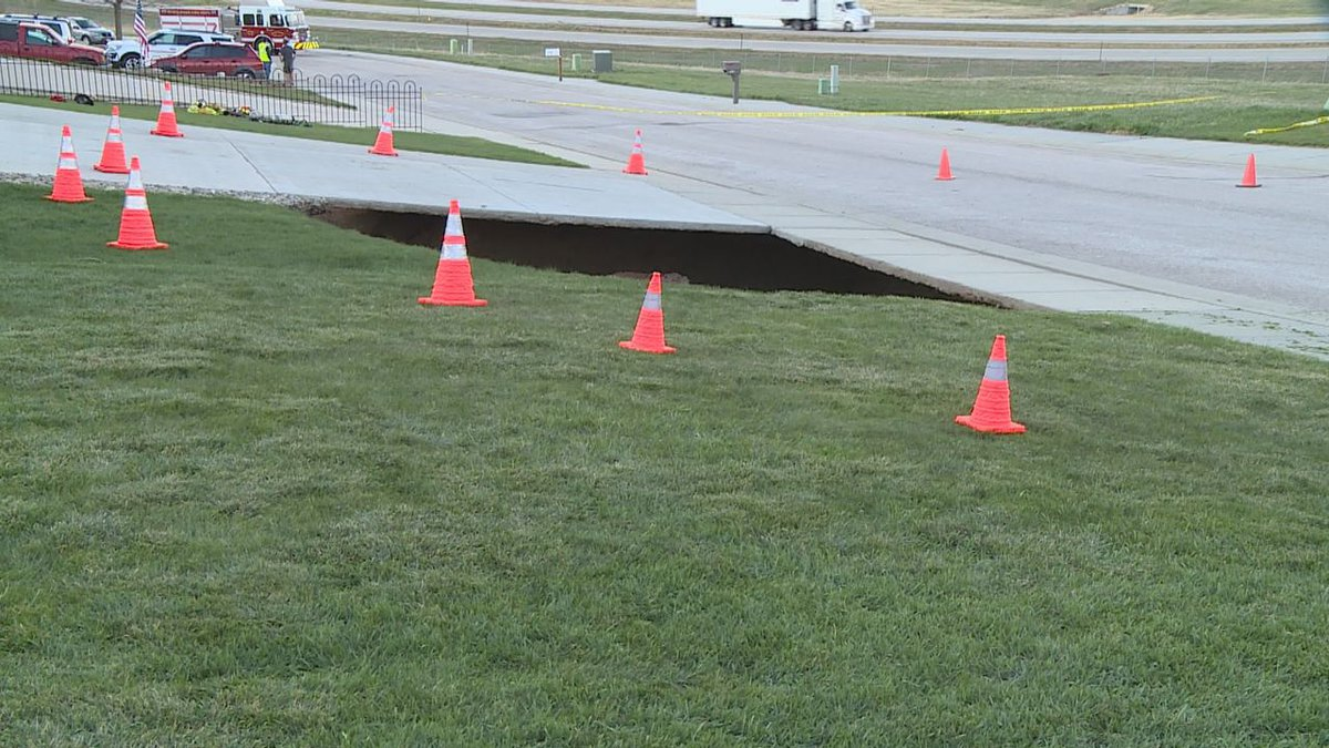 The sinkhole that opened up in Blackhawk.