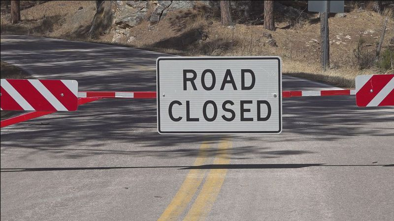 Iron Mountain Road closed