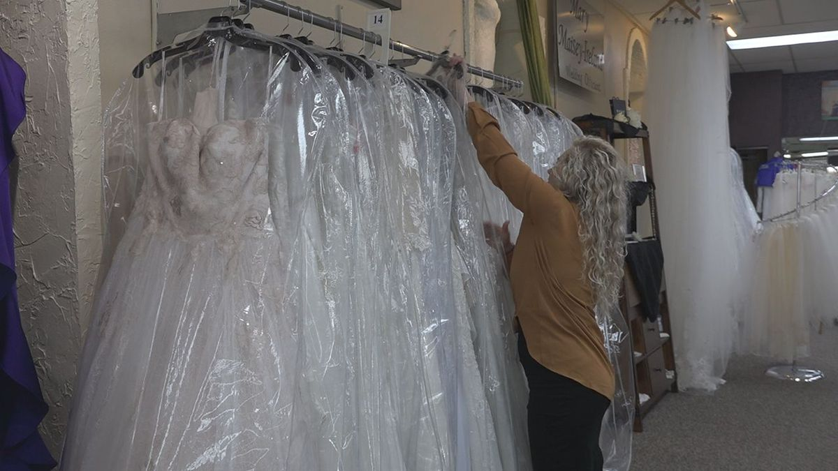 The store manager at Audra's Bridal says at this time she is not extremely concerned about a wedding dress shortage due to the coronavirus. <br />(KOTA)
