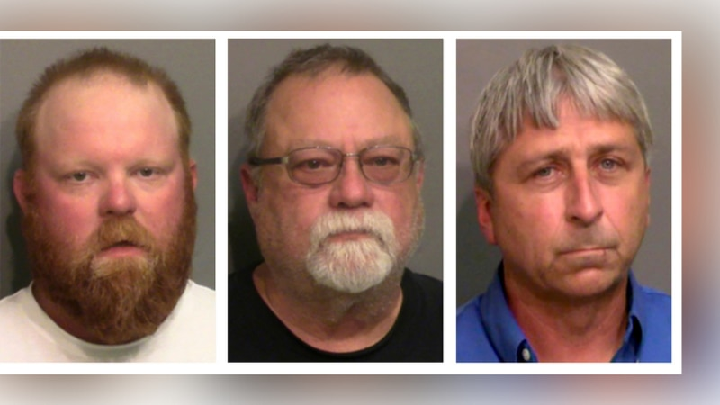 FILE - This combo of booking photos provided by the Glynn County, Ga., Detention Center shows...