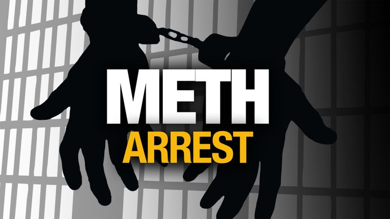 Meth Arrest graphic