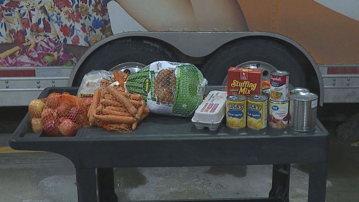 All the fixings Feeding South Dakota is providing for food insecure families to enjoy a Thanksgiving meal.
