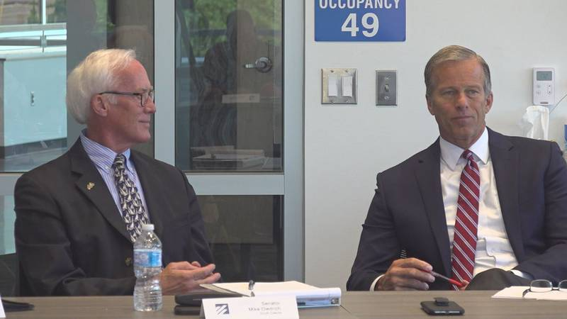 Several construction companies and city and economic officials met with Thune to map out a plan...