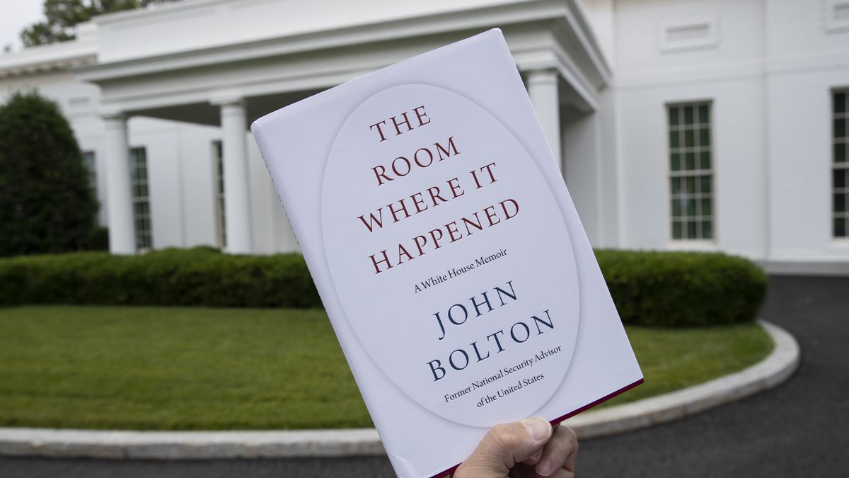 "A copy of ""The Room Where It Happened,"" by former national security adviser John Bolton, is..."