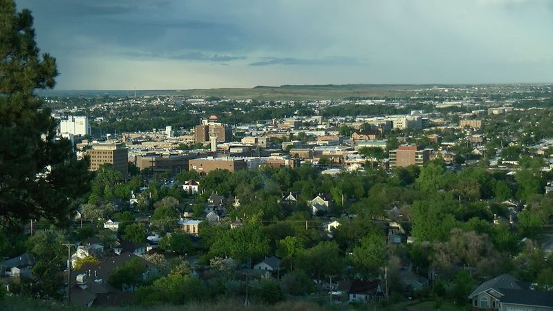 Downtown Rapid City after an evening rain shower