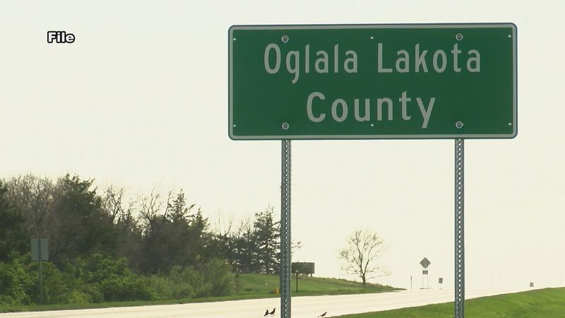 Oglala Lakota County sign