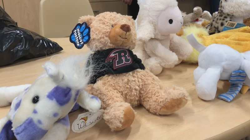 The Rapid City Rush held its annual Teddy Bear Toss last Saturday and on Tuesday, began handing...
