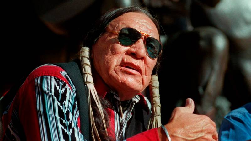 FILE - In this Feb. 18, 2000 file photo, Saginaw Grant, veteran actor and writer, responds to a...