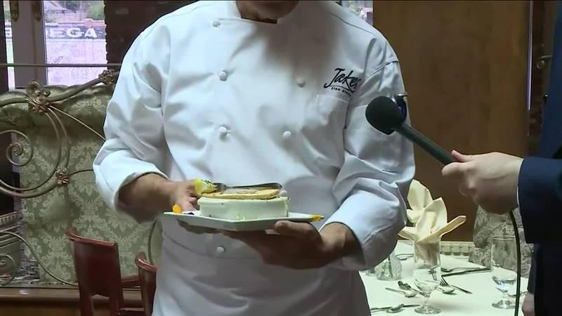 Chef Dan Dobkin displays his classic escargot dish at Jake's in Deadwood
