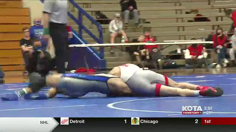 Cael Larson finishes his senior season undefeated as he won the Class A 138 Championship.