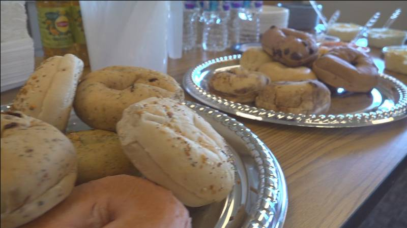 Bagels at Coffee With Planners meeting.