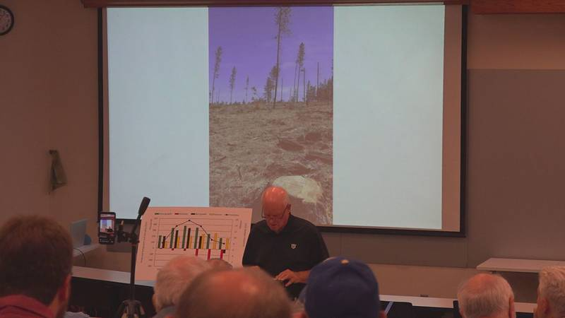 Jim Furnish has worked for the U.S. Forest Service for 34 years and Thursday, spoke about his...