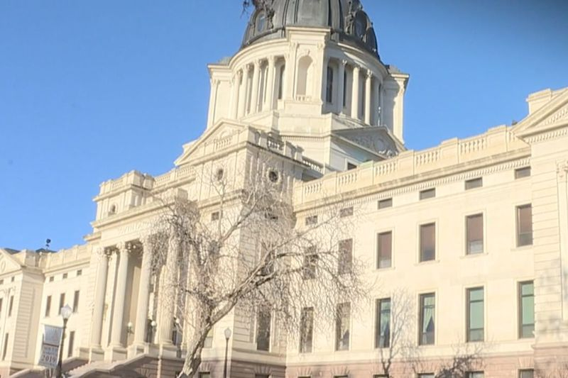 A view in Pierre of the State Capital.