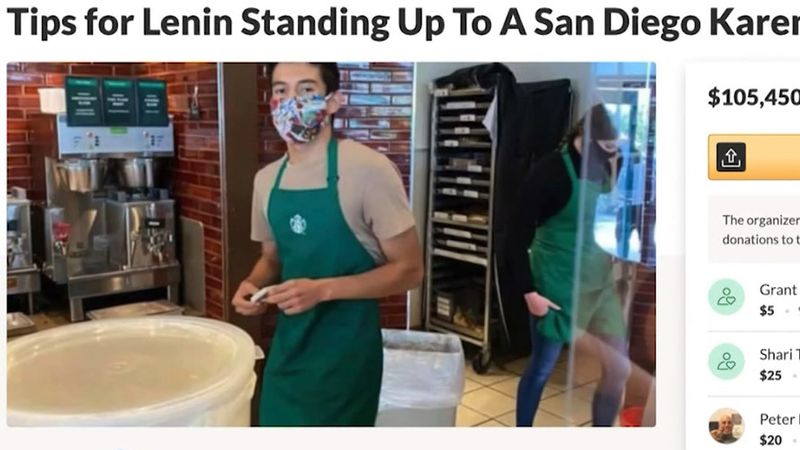 A barista named Lenin was given quite a tip thanks to a GoFundMe.