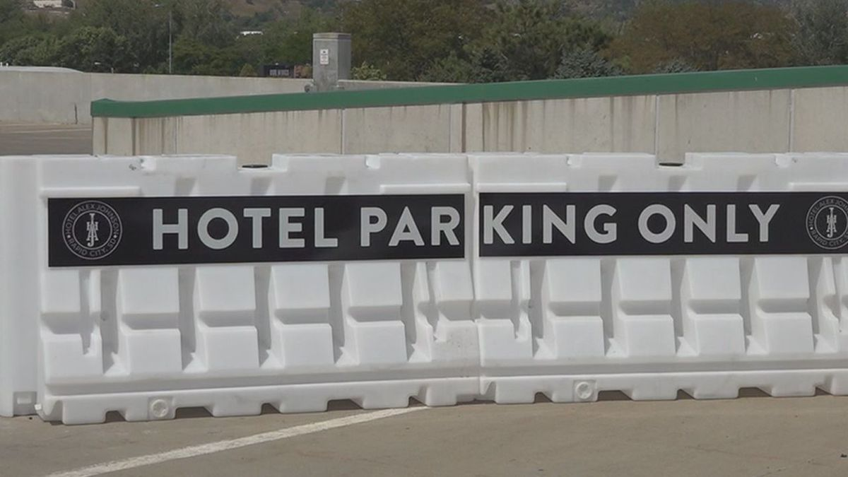 Part of the downtown parking ramp is now leased to Hotel Alex Johnson.
