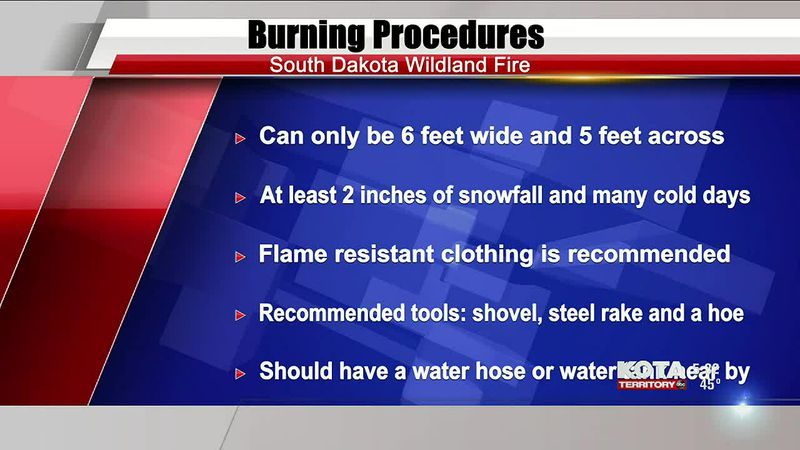 Burn permits are issued with guidelines and procedures to keep people safe
