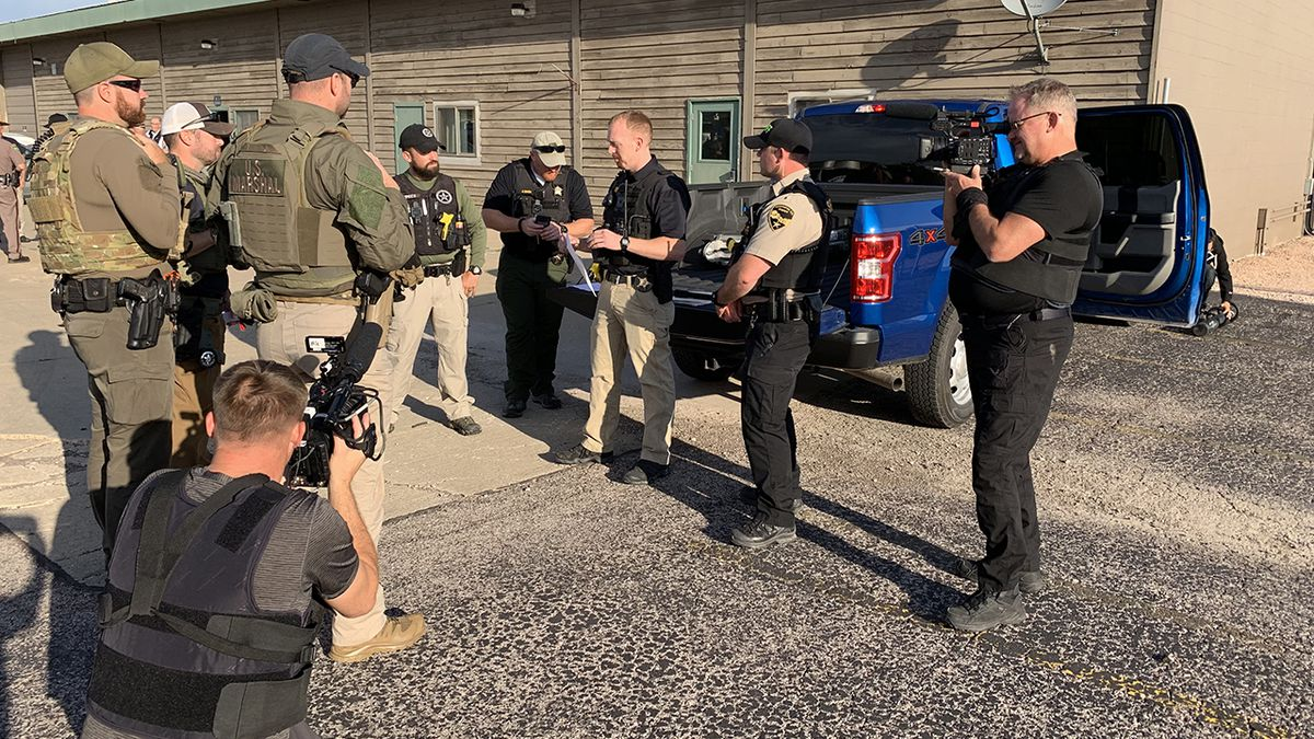 Live PD films with the Pennington County Sheriff's Office. (photo courtesy Pennington County Sheriff's Office)