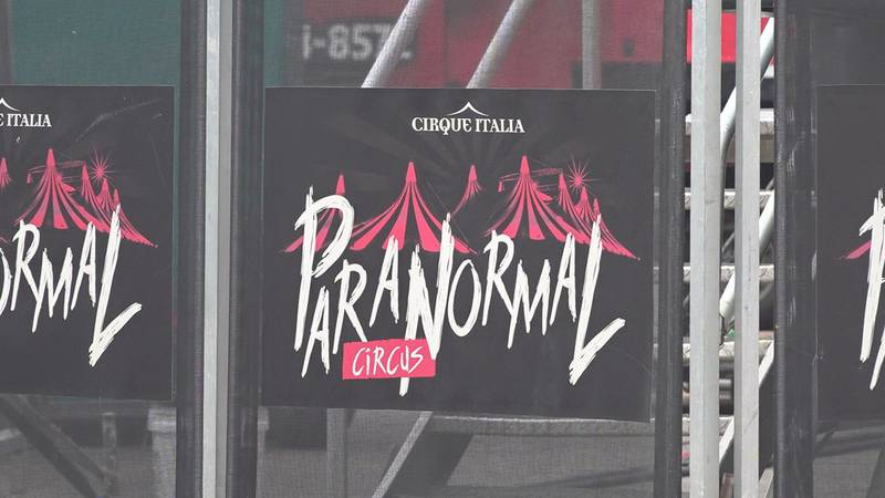 Paranormal Cirque takes up a large chunk of the mall's parking lot outside of Traders Market,...
