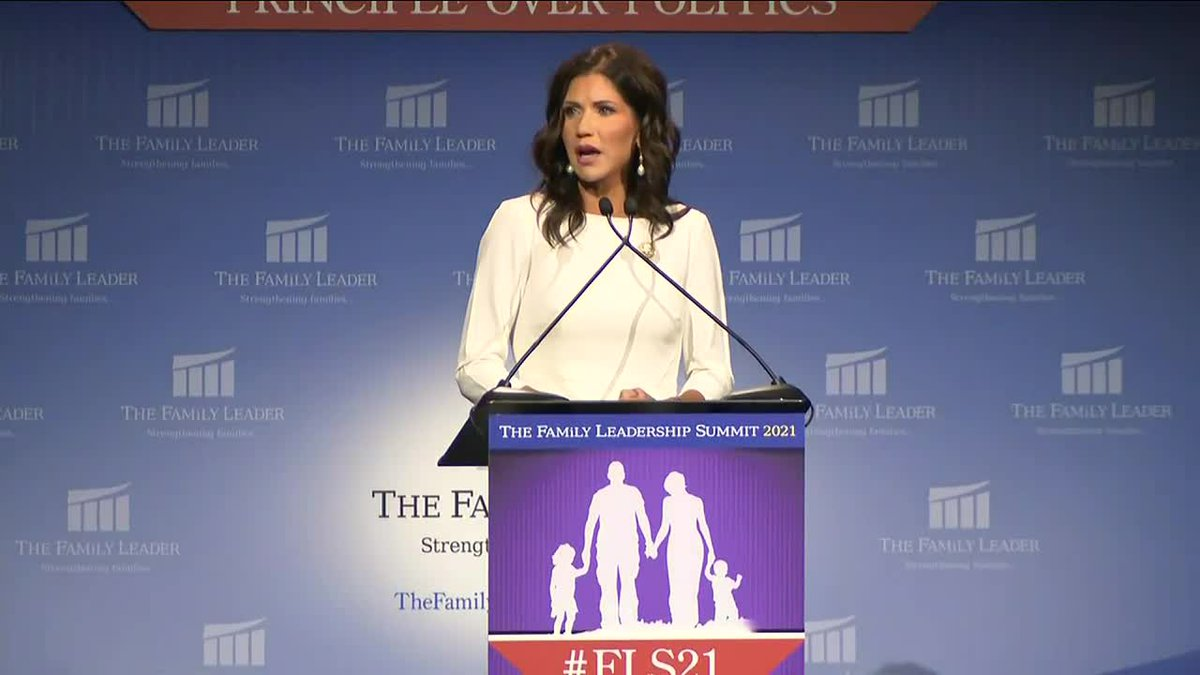 South Dakota Governor Kristi Noem was in Des Moines, Iowa this summer speaking at the...