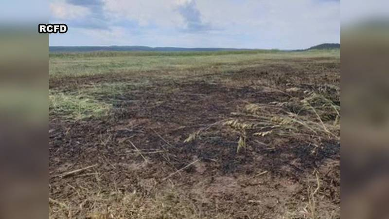Fire is a real danger with dry conditions, a danger one Black Hawk farmer faced Wednesday.