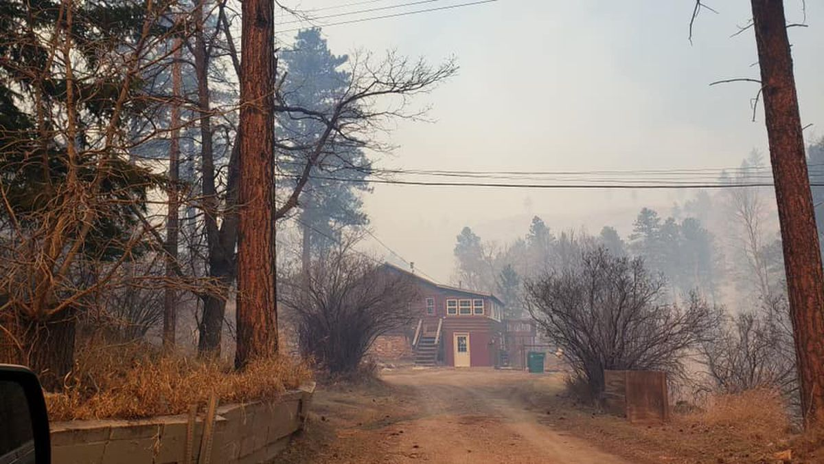 Dark Canyon home evacuated for fire. A Red Cross Reception Center has ben established at South...