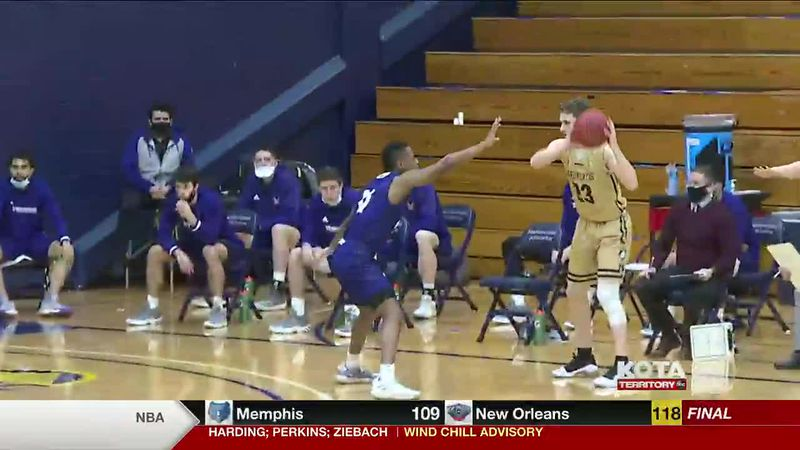 The Mines Men's team lost to Westminster 68 to 48. The Women's team beat the Griffins 74 to 71....
