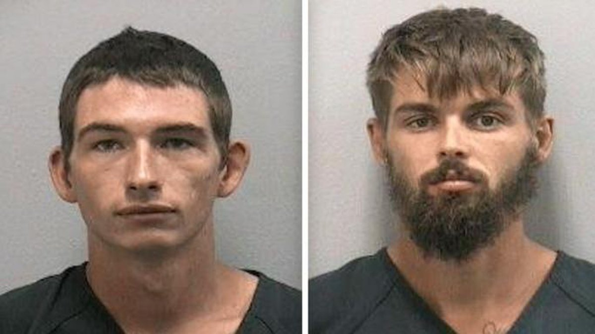 Timothy Kepke and Noah Osborne have been charged after a video allegedly showed them pouring...