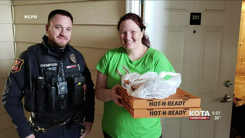 After arresting a food delivery guy, one officer decided to complete the delivery.